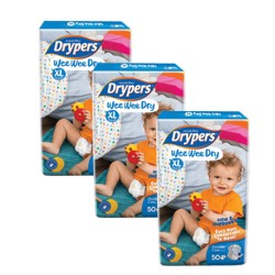 Drypers Wee Wee Dry Mega XL50 (3 Packs)