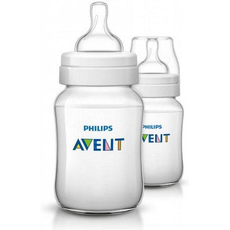 Philips Avent - Classic+ Feeding Bottle 9Oz/260Ml (Twin Pack)