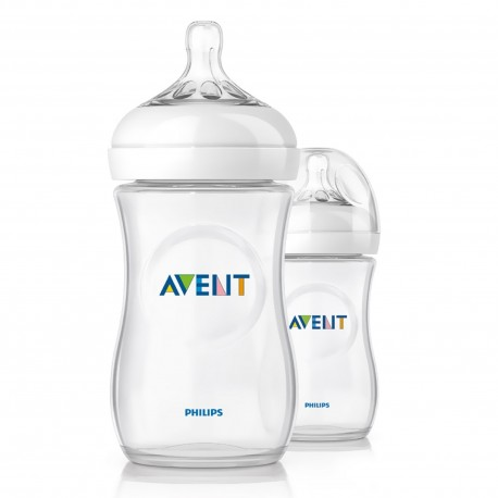 Philips Avent Natural Bottle 11oz / 330ml Twin Pack