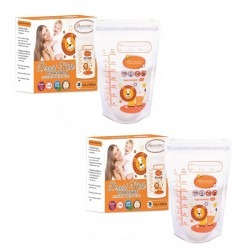 Autumnz Double ZipLock Breastmilk Storage Bag *10oz* (28 bags-Twin Pack)