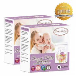 Autumnz Double ZipLock Breastmilk Storage Bag  *5oz*(28 bags-TwinPack)
