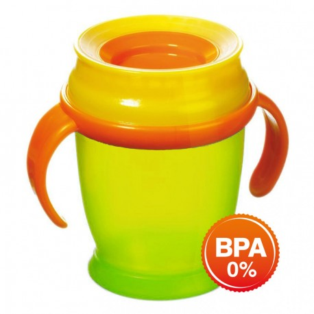 LOVI 360 CUP WITH HANDLES (210ML) MINI-Green
