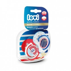 'Lovi 2Pcs Dynamic Soother (Marine) 3-6m - Anchor Set'