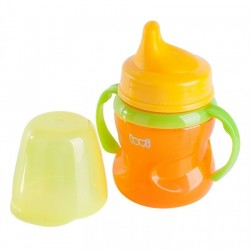 LOVI 150 ml non-spill soft spout 6+month-Orange