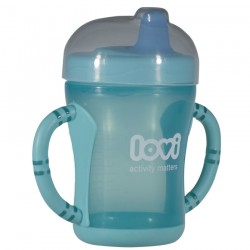 LOVI Easy start spout cup-Blue-(Teal)