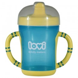 'Lovi Easy Start Spout Cup-Blue-(Cyan)'