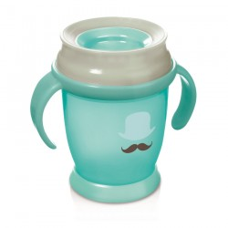 Lovi 360 cup RETRO with handles  (210 ml) MINI -mint