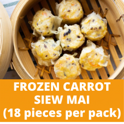 Lox Carrot Siew Mai (18 pieces per pack)