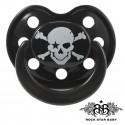 Rock Star Baby Silicone Pacifiers Ortho - PIRATE (Black/Black)