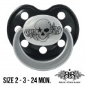 Rock Star Baby Pacifiers Ortho - TATTOO PIRATE (Pearl/Black)