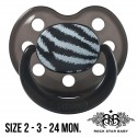 Rock Star Baby Silicone Pacifiers Ortho - ZEBRA (Black/Black)