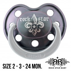 Rock Star Baby Silicone Pacifiers Ortho - FLEUR DE LIS DARK