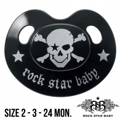 Rock Star Baby Silicone Pacifiers Ortho - PIRATE
