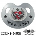 Rock Star Baby Silicone Pacifiers Ortho - HEART & WINGS