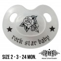 Rock Star Baby Silicone Pacifiers Ortho - ROSE