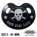 Rock Star Baby Silicone Pacifiers Ortho - PIRATE size 3