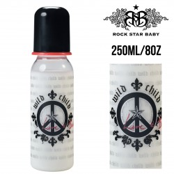 Rock Star Baby Narrow Neck Bottles - PEACE (250ML/8OZ)