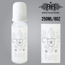 Rock Star Baby Narrow Neck Bottles - FLEUR DE LIS LIGHT (250ML/8OZ)
