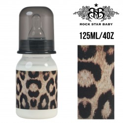 Rock Star Baby Narrow Neck Bottles - LEOPARD (125ML/4OZ)