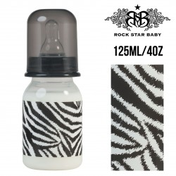 Rock Star Baby Narrow Neck Bottles - ZEBRA (125ML/4OZ)