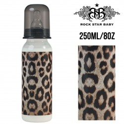 Rock Star Baby Narrow Neck Bottles - LEOPARD (250ML/8OZ)