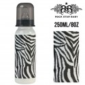 Rock Star Baby Narrow Neck Bottles - ZEBRA (250ML/8OZ)