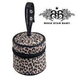 Rock Star Baby  Pacifier Bag - LEOPARD