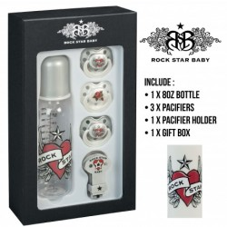 Rock Star Baby Gift Set 3 - HEARTS & WINGS