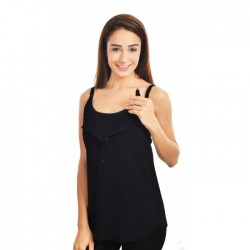 Lunavie Nursing Cami (Black)