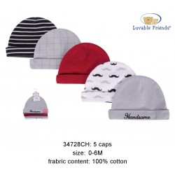 Luvable Friends Caps - Boy Handsome (5pcs)