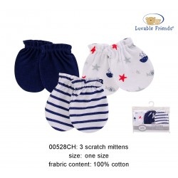 Luvable Friends Scratch Mittens - Sea (3sets)