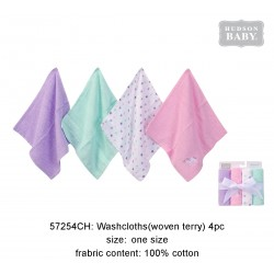 Hudson Baby Super Soft Washcloths - Unicorn (4pcs)