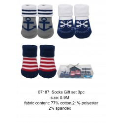 Luvable Friends Socks Gift Set - Blue Line (3pairs)