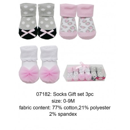 Luvable Friends Socks Gift Set - Pink Leopard (3pairs)