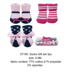 Luvable Friends Socks Gift Set - Blue Dot (3pairs)