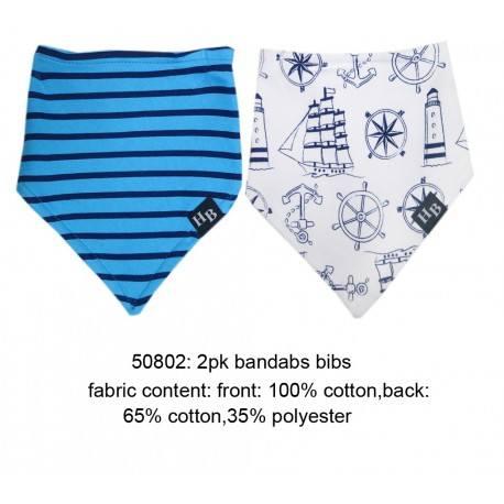 Hudson Baby Bandana Bib - Little Sailer (2pcs)