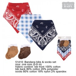 Hudson Baby Bandana Bib and Socks Set - Cowboy (5pcs)