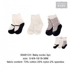 Hudson Baby Baby Socks with Non Skid - Leopard (3pairs)