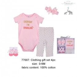 Little Treasure Clothing Gift Set - Sparkling (4pcs)