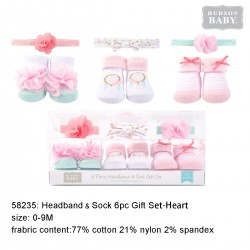 Hudson Baby Headband and Socks Gift Set - Dream Catcher (6pcs)