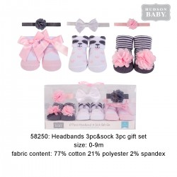 Hudson Baby Headband and Socks Gift Set - Panda (6pcs)