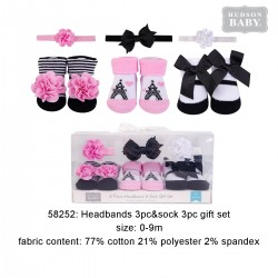 Hudson Baby Headband and Socks Gift Set - Paris (6pcs)