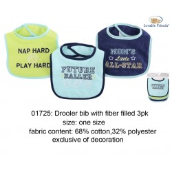 Luvable Friends Interlock Droller Baby Bibs - Future Baller (3pcs)
