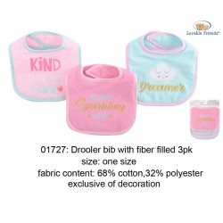 Luvable Friends Interlock Droller Baby Bibs - Sparkling New (3pcs)