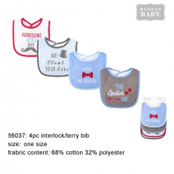 Hudson Baby Interlock Droller Baby Bibs - The Ladies Love Me (4pcs)