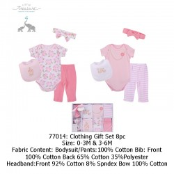 Little Treasure Clothing Gift Set 8pcs (Cute)