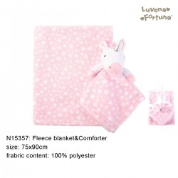 Little Treasure Luvena Fortuna Fleece Blanket and Comforter - N15357