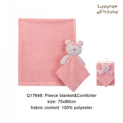 Little Treasure Luvena Fortuna Fleece Blanket and Comforter - Q17648