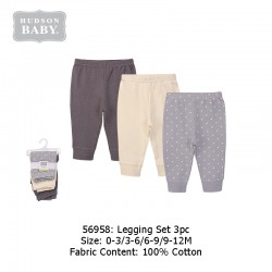 Hudson Baby 3pcs Tapered Ankle Pants - Grey Star (56958)