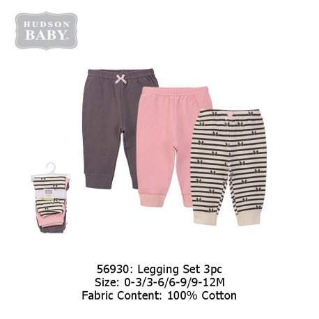 Hudson Baby 3pcs Tapered Ankle Pants - Bows (56930)